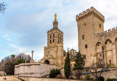 Cathedral Notre-Dame des Doms of Avignon Stock Photos