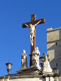 Cathedral Notre-Dame des Doms and Mary, Avignon, Provence, France Royalty Free Stock Photos