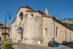 Cathedral Notre Dame des Pommiers of Sisteron Royalty Free Stock Photo