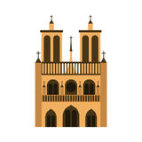 Cathedral notre dame icon Royalty Free Stock Photo
