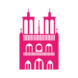 Cathedral notre dame icon Royalty Free Stock Images