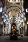 Cathedral Notre-Dame interior in Lausanne Stock Photography