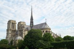 Cathedral of Notre Dame, Paris, France stock image