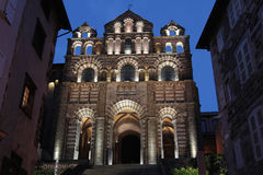 Cathedral Notre-Dame of Le Puy-en-Velay Stock Photo
