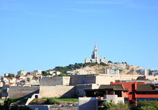 Cathedral Notre Dame in Marseille City Royalty Free Stock Photo