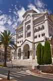 Cathedral Notre Dame, Monaco principality Royalty Free Stock Images