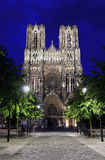Cathedral of Notre Dame at night, Reims Royalty Free Stock Image