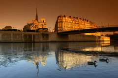 Cathedral of Notre-Dame in Paris Stock Photo