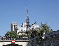 Cathedral Of Notre Dame, Paris, France. The Cathedral of Notre Dame Royalty Free Stock Images