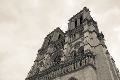 Cathedral Notre Dame in Paris France Stock Image