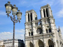 Cathedral Notre Dame in Paris Royalty Free Stock Photography