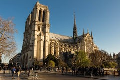 The cathedral Notre Dame, Paris, France. Stock Photography