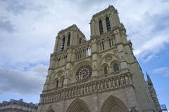Cathedral of Notre Dame Paris. One of the most well known Cathedrals in Europe; its cornerstone was laid in 1163 Stock Images