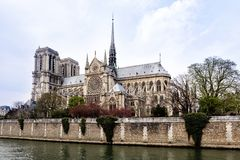Cathedral Notre Dame in Paris Stock Photos