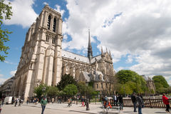 Cathedral Notre-Dame in Paris Stock Images