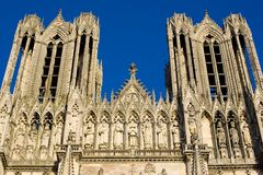 Cathedral Notre Dame, Reims. Cathedral Notre Dame in Reims, Champagne, France Royalty Free Stock Images