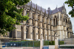 Cathedral Notre Dame in Reims Stock Image