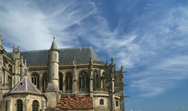 Cathedral (Notre Dame) of Senlis, France Stock Photos
