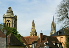 Cathedral (Notre Dame) of Senlis, Oise, Picardy, France Stock Photos