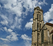 Cathedral (Notre Dame) of Senlis, Oise, Picardy, France Stock Photography