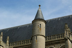 Cathedral (Notre Dame) of Senlis, Oise, Picardy, France Stock Image
