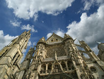 Cathedral (Notre Dame) of Senlis, Oise, Picardy, France Stock Photo