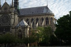 Cathedral of Notre Dame, Side View. stock photography