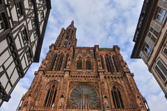 Cathedral Notre Dame of Strasbourg, Bas Rhin, Alsace Stock Photo