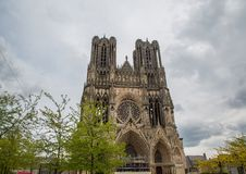 Cathedral Notre Dames at Reims Stock Photos