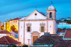 Cathedral in Odivelas, Portugal. Beautiful evening view. District of Lisbon Stock Image