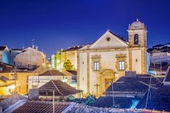 Cathedral in Odivelas, Portugal. Beautiful evening view. District of Lisbon Stock Photo