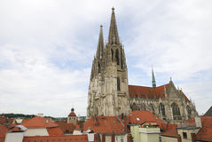 Cathedral Of Regensburg Stock Images