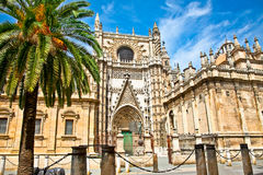 Cathedral Of Saint Mary In Seville, Spain. Stock Photos
