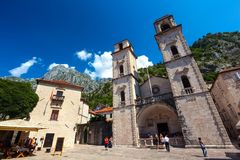 Cathedral Of Saint Tryphon, Kotor Old Town, Montenegro - August Royalty Free Stock Images