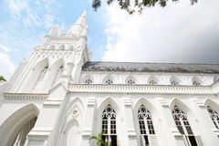 Cathedral Of St Andrew In Singapore, Largest Cathedral In Singapore Royalty Free Stock Photo