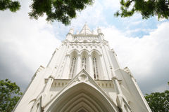 Cathedral Of St Andrew In Singapore, Largest Cathedral In Singapore Royalty Free Stock Photos