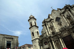 Cathedral in old Havana. Detail of famous cathedral in old Havana stock image