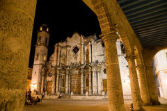 Cathedral, old Havana, Cuba Royalty Free Stock Photography