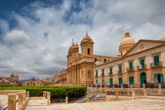 Cathedral in old town Noto, Sicily, Italy Royalty Free Stock Photography