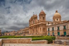 Cathedral in old town Noto, Sicily, Italy Stock Photography