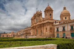 Cathedral in old town Noto, Sicily, Italy Royalty Free Stock Photos