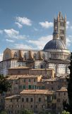 Cathedral and old town of Siena Stock Images