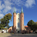 Cathedral in Oliwa. Oliwa Cathedral in the sunshine. Gdansk, Poland Stock Photos