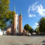 Cathedral in Oliwa. Oliwa Cathedral in the sunshine. Gdansk, Poland Stock Images