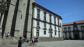 Cathedral of Oporto stock footage