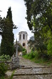 Cathedral Oppede le Vieux Stockfotos