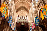 Cathedral organ stock images