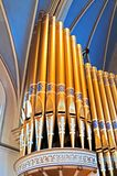 Cathedral organ pipes Royalty Free Stock Photo