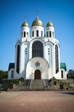 Cathedral orthodox church in Kaliningrad Stock Image