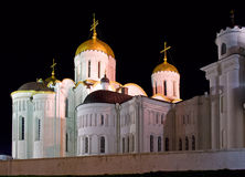 Cathedral orthodox night Stock Image